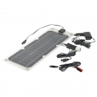 N1810 10W Monocrystalline Silicon Solar Panel Power Battery Charger - Black