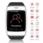 "ZGPAX S12 Bluetooth V3.0 Sports Smart Watch w/ 1.54"" Screen, Sync Android Phone, Pedometer - White"