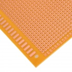 9cm x 15cm Universal PCB Hole Test Fiberboards - Brown + Yellow (5 PCS)