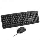 Wired 104-Key Gaming Keyboard + Optical Mouse Set