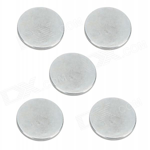 SZGAOY 14081902 Round N38 NdFeB Magnets - Silver (5 PCS) szgaoy 14081905 rectangular n38 ndfeb magnets silver 20 pcs