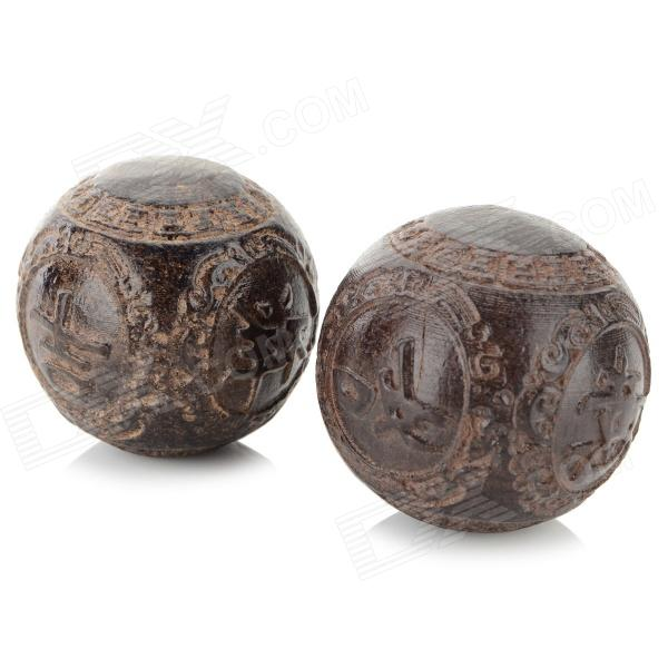 BJQ-003 Agalloch Hands Health Care Balls - Brown (2 PCS)