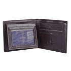 PU Leather Wallet Curto Moda Masculina YATEER YA126-3 - Coffee