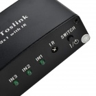 3 In 1 Out Toslink Optical Digital Audio to Analog Switcher - Black + White