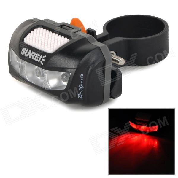 SUNREE B-sports Waterproof 3-Mode Red Light Bike Bicycle Tail Warning Light - Black (2 x AAA) налобный фонарь sunree 2 sports2