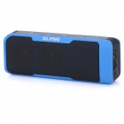 SLANG J6 2 x 3W Bluetooth V3.0 Stereo Speaker w/ 4000mAh Power Bank / Mic. / USB / TF / 3.5mm - Blue