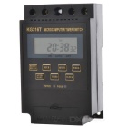 "KG316T 2"" LCD Screen DIN Rail Microcomputer Timer Switch / Time Controller - Black (1 x AAA)"
