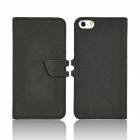 Angibabe abcd321 2-in-1 Detachable PU Leather Flip Open Case for IPHONE 5 / 5S - Black