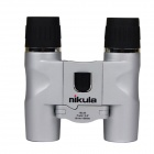 Nikula 10x25 Folding High Quality Full Night Vision Binoculars - Silver + Black