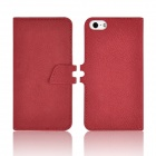 Angibabe abcd321 2-in-1 Detachable PU Leather Flip Open Case for IPHONE 5 / 5S - Red