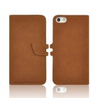 Angibabe abcd321 2-in-1 Detachable PU Leather Flip Open Case for IPHONE 5 / 5S - Brown