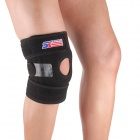 ShuoXin SX624 Adjustable Silicon 4-Spring Knee Guard Protector - Black