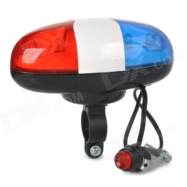 JY-325A Bike Bicycle Loud Electric Horn Bell w/ Cool White Light + Red Warning Light LED (2 x AA)