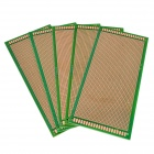 10cm x 22cm Universal PCB Punching Hole Test Boards - Green + Golden (5 PCS)