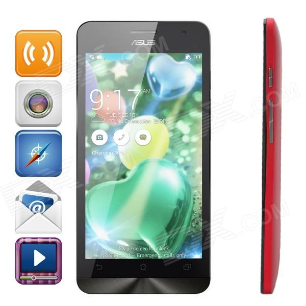 "Asus Android 4.3 ZenFone5 Dual-Core Smartphone WCDMA w / 5,0 ""Bildschirm, Wi-Fi, GPS - Rot (2GB / 16GB)"