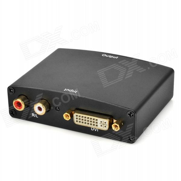 DVI / R/L to HDMI 1080P Audio Converter - Black lonely planet hong kong travel guide