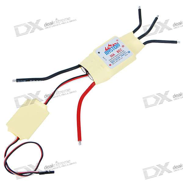 Mystery Speed Controller 50A BEC for Brushless Motors (300/450 R/C Helicopters) 10piece 100% new m3054m qfn chipset