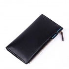 IB11 Men 's Fashionable High Quality Multifunction PU Leather Wallet - Black