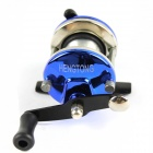 Stainless Steel Spinning Fishing Reel w/ Nylon Line - Blue + Silver + Black