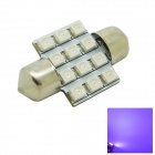 Festoon 31mm 1.2W 80lm 12x3528 SMD LED Purple Light Car Dome Door Light Bulb ( DC 12V )