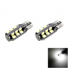 HONSCO T10 2W 100lm 6000K 24x2835 SMD LED Cool White Dome Side Marker License Bulb (2PCS/DC 12V)