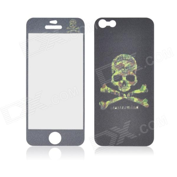 Angibabe Skull Head Pattern Glow-in-the-Dark Full Body Screen Protector Sticker for IPHONE 5 / 5S glow in the dark skull pattern protective pvc back case for iphone 5 black pink blue green