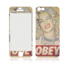 Angibabe Sexy Lip Pattern Glow-in-the-Dark Full body Screen Protector Sticker for IPHONE 5 / 5S