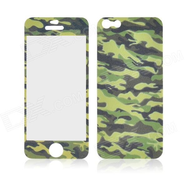 Angibabe Camouflage Glow-in-the-Dark Full Body Screen Protector Sticker for IPHONE 5 / 5S