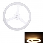 JoYda H18ww E27 12W 2000lm 3000K 80-2835 SMD LED Warm White Light Steering Wheel Lamp (AC 220V)