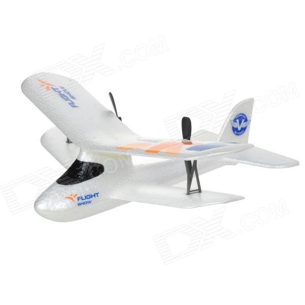 2.4GHz 2-CH Remote Control EPP Foam R/C Glider - White universal 1 5 lcd air conditioner a c remote control controller white 2 x aaa