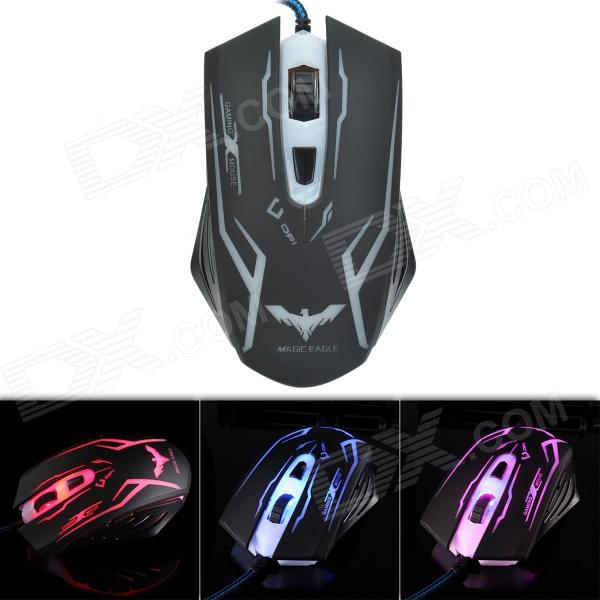 Havit HV-MS701 2400DPI Wired USB 2.0 Optical Gaming Mouse - Black baodi g20 1200 1600 2400 dpi usb wired optical game mouse w colorful light black