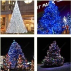 LIWEEK Solar Powered 200-LED Cold White Xmas Party Wedding Decor String Light - White (3V / 20.5M)