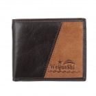 WEIJUESHI Men's Fashionable Leather Wallet  -Coffee + Light Brown