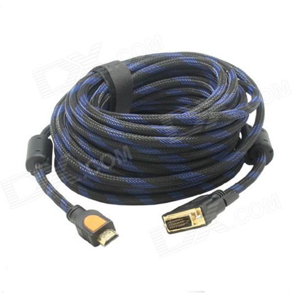 Yellow Knife Y51 Gold-Plated HDMI Male to DVI 24+1 Male Adapter Nylon Cable - Black (3m) Corpus Christi поиск б.у