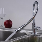 YDL-F-0583 Arbitrary Rotating Chrome-plated Brass Kitchen Sink Faucet - Silver