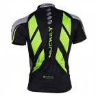 NUCKILY MA005MB005 Men's Cycling Short Sleeves Jersey Clothes + Pants Set - Green + Black (XL)