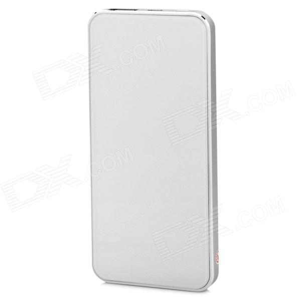 Ultrathin 5200mAh Li-polymer Battery Mobile Power Bank for Samsung, HTC, BlackBerry - Silver + White
