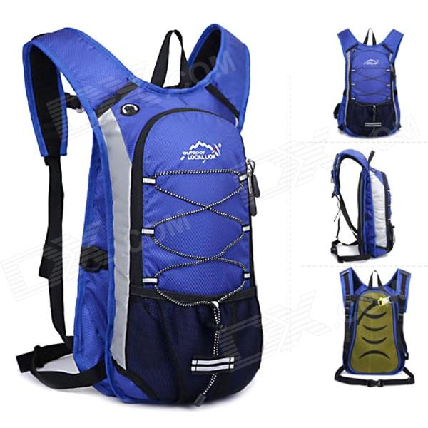 LOCAL LION 479A Multi-functional Outdoor Mountaineering Cycling Double Shoulder Bag Backpack - Blue