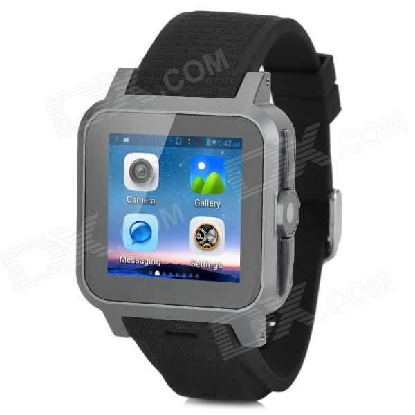 Z15 Dual-core WCDMA Smart Wrist Watch Phone w/ 1.54 Screen, Bluetooth, 4GB ROM, Wi-Fi, GPS -  Black hummer h5 3g smartphone 4 0 capacitive screen mtk6572 dual core 1 3ghz 512mb 4gb dual sim card waterproof shockproof dustproof gps smart phone unlocked