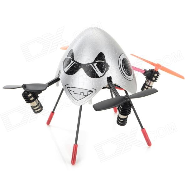 SH 2.4GHz 4-CH 6-Axis Outdoor R/C Helicopter Flying Egg w/ Gyroscope - Silver