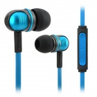Wallytech W801 Super Bass In-Ear Earphone w/ Mic / Remote for IPHONE / IPAD + More - Blue + Black