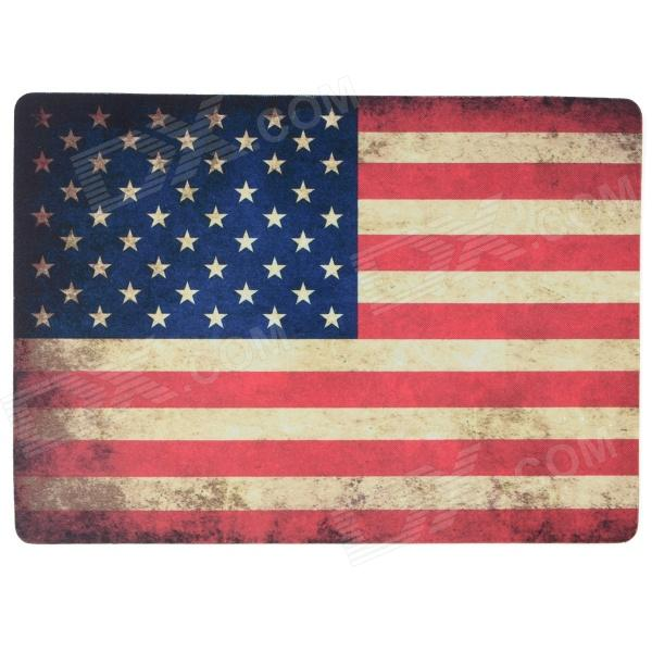 Retro Style U.S Flag Pattern Mouse Pad - Red + Blue + Multi-Color