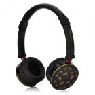 Bingle B613 Multifunction USB 2.0 Fold-up Headband Headphone w/ Mic. / TF / FM - Black + Yellow