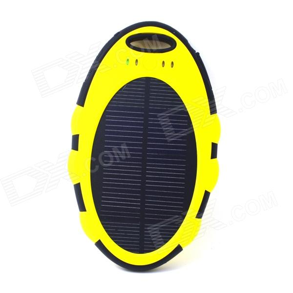ODEM 5000mAh Dustproof Shockproof Waterproof Li-polymer Battery Solar Charger External Bank - Yellow 100w folding solar panel solar battery charger for car boat caravan golf cart