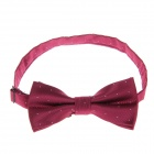 Men's Fashionable Simple Dacron Bow Tie - Dark Red