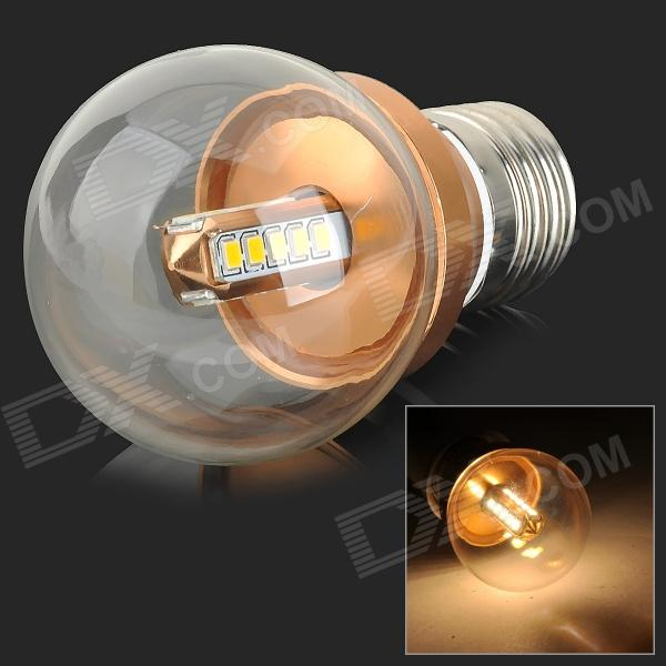 YouOKLight E27 350lm 3000K 20-2835 SMD LED Warm White Lamp Bulb - Golden (85~265V)