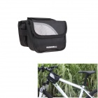ROSWHEEL Durable 600D Polyester Top Tube Bag for Bicycle - Black + Grey