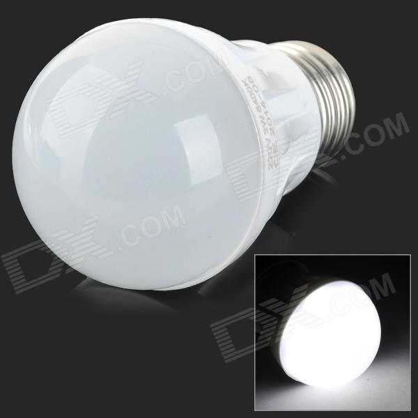 ADS-CL3W E27 3W180lm 6400K 6-SMD 5630 LED White Light Bulb - White (AC 220V)