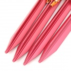 Outdoor Thickened Camping Tent Aluminum Alloy Ground Nail Stake - Red (4pcs)