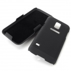 Protective ABS Case w/ Clip for Samsung Galaxy S5 Mini - Black